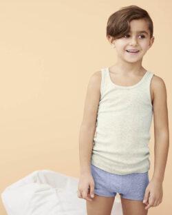 Blåmelert boxer - 100 % økologisk bomull » Etiske & økologiske klær » Grønt Skift