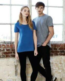 Denimblå unisex t-skjorte i 100 % økologisk fairtrade bomull » Etiske & økologiske klær » Grønt Skift