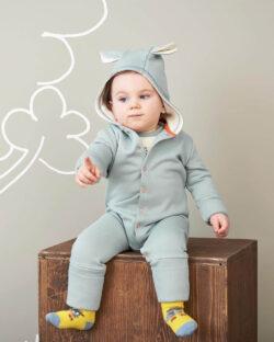 Lys gråblå heldress - 100 % økologisk bomull » Etiske & økologiske klær » Grønt Skift