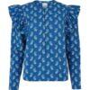 Blå topp med paisleymønster - 100 % Tencel™ Lyocell » Etiske & økologiske klær » Grønt Skift