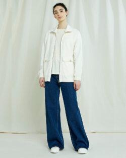 Kremhvit fleecegenser - 100 % økologisk bomull » Etiske & økologiske klær » Grønt Skift
