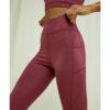 Burgunder yogatights med lomme - økologisk bomull » Etiske & økologiske klær » Grønt Skift
