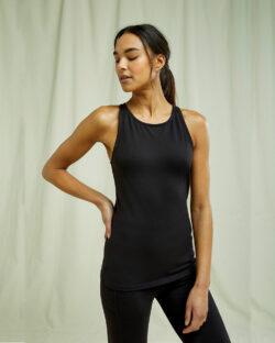 Svart yoga singlet - økologisk bomull » Etiske & økologiske klær » Grønt Skift
