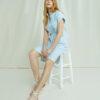 Blå og hvit stripete kjole - 100 % økologisk bomull » Etiske & økologiske klær » Grønt Skift
