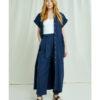 Navy kjole med knapper - 100 % økologisk bomull » Etiske & økologiske klær » Grønt Skift