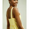 Gul og hvit stripete kjole - 100 % økologisk bomull » Etiske & økologiske klær » Grønt Skift