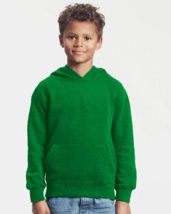 Grønn ensfarget hettegenser - 100 % økologisk bomull » Etiske & økologiske klær » Grønt Skift