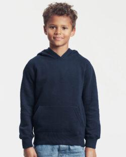 Mørkeblå ensfarget hettegenser - 100 % økologisk bomull » Etiske & økologiske klær » Grønt Skift