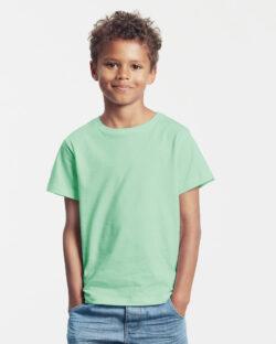 Mintgrønn unisex t-skjorte - 100 % økologisk bomull » Etiske & økologiske klær » Grønt Skift