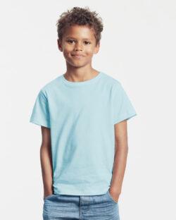 Lyseblå unisex t-skjorte - 100 % økologisk bomull » Etiske & økologiske klær » Grønt Skift