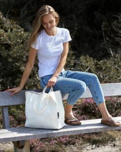 Naturhvitt stort handlenett - 100 % økologisk bomull » Etiske & økologiske klær » Grønt Skift