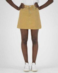 Sophie Rocks gult denim skjørt - i resirkulert og økologisk bomull » Etiske & økologiske klær » Grønt Skift