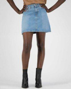 Sophie Rocks lyseblått denim skjørt - i resirkulert og økologisk bomull » Etiske & økologiske klær » Grønt Skift