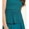 Blågrønn mønstrete t-skjorte - økologisk bomull » Etiske & økologiske klær » Grønt Skift