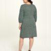 Mønstrete kjole med dyp v-hals - økologisk bomull » Etiske & økologiske klær » Grønt Skift