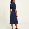 Navy midi kjole - 100 % økologisk bomull » Etiske & økologiske klær » Grønt Skift