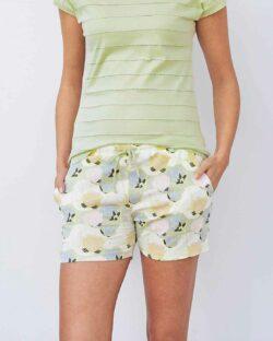 Pastell nattshorts med lotusblomst - 100 % økologisk bomull » Etiske & økologiske klær » Grønt Skift