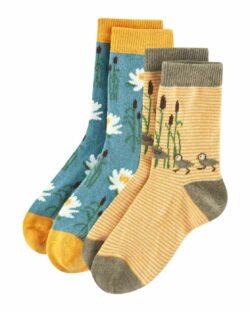 2 par sokker med naturmotiv i økologisk bomull » Etiske & økologiske klær » Grønt Skift