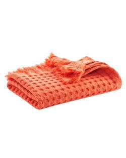 Oransje badehåndkle i 100 % økologisk bomull » Etiske & økologiske klær » Grønt Skift