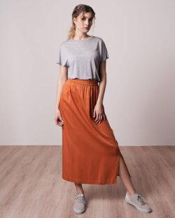 Langt oransje skjørt - 100 % Tencel™ lyocell » Etiske & økologiske klær » Grønt Skift
