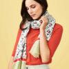 Skjerf med villblomst motiv i 100 % økologisk bomull » Etiske & økologiske klær » Grønt Skift