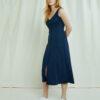 Navy ribbet jerseykjole - økologisk bomull » Etiske & økologiske klær » Grønt Skift