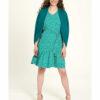 Turkis kjole med blomstermønster - 100 % EcoVero™ viskose » Etiske & økologiske klær » Grønt Skift