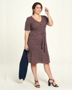 Brun mønstret kjole - 100 % økologisk bomull » Etiske & økologiske klær » Grønt Skift