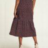 Brunt mønstret skjørt - 100 % økologisk bomull » Etiske & økologiske klær » Grønt Skift