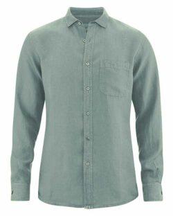 Grågrønn skjorte - 100 % ren hamp » Etiske & økologiske klær » Grønt Skift