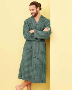 Grønn morgenkåpe i 100 % økologisk bomull » Etiske & økologiske klær » Grønt Skift