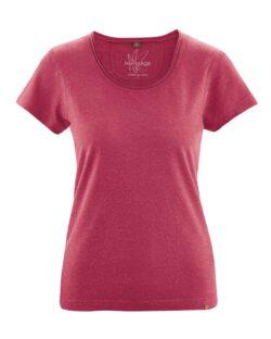 Plommerød t-skjorte - hamp og økologisk bomull » Etiske & økologiske klær » Grønt Skift