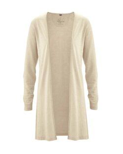 Sandfarget lang cardigan - hamp og økologisk bomull » Etiske & økologiske klær » Grønt Skift