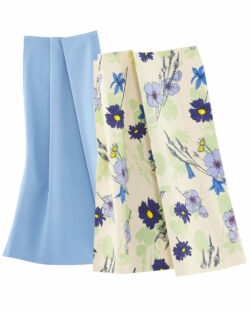 2 pk blå og blomstrete kjøkkenhåndklær i 100 % økologisk bomull » Etiske & økologiske klær » Grønt Skift
