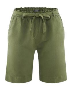 Grønn bermudashorts - økologisk lin og økologisk bomull » Etiske & økologiske klær » Grønt Skift