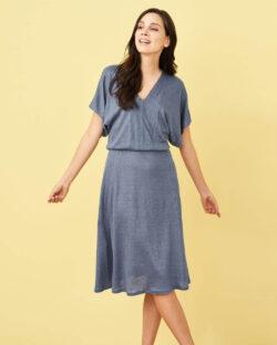 Gråblå kjole - 100 % økologisk lin » Etiske & økologiske klær » Grønt Skift