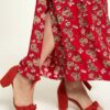 Rød vid bukse - 100 % EcoVero™ viskose » Etiske & økologiske klær » Grønt Skift