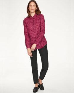 Rosa bluse med svarte prikker - 100 % økologisk bomull » Etiske & økologiske klær » Grønt Skift
