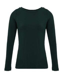 Svart trøye med bred halsåpning - bambusviskose » Etiske & økologiske klær » Grønt Skift