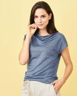 Blå t-skjorte - 100 % økologisk lin » Etiske & økologiske klær » Grønt Skift
