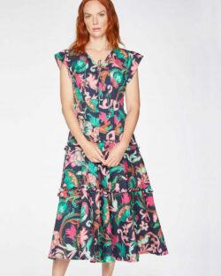 Blomstrete kjole - tencel, økologisk bomull og viskose » Etiske & økologiske klær » Grønt Skift