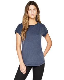 Kortermet t-skjorte steinvasket denim - 100 % økologisk bomull » Etiske & økologiske klær » Grønt Skift
