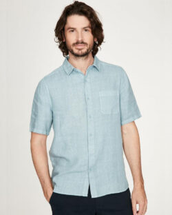 Lyseblå kortermet skjorte - 100 % hamp » Etiske & økologiske klær » Grønt Skift