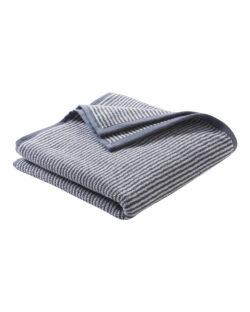 Blått og hvitt stripete håndhåndkle i 100 % økologisk bomull » Etiske & økologiske klær » Grønt Skift