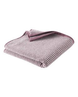Lilla og hvitt stripete håndhåndkle i 100 % økologisk bomull » Etiske & økologiske klær » Grønt Skift