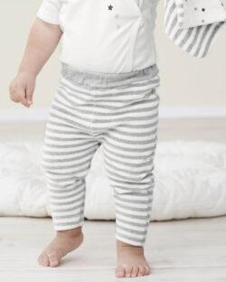 Grå og hvit stripete bukse - 100 % økologisk bomull » Etiske & økologiske klær » Grønt Skift