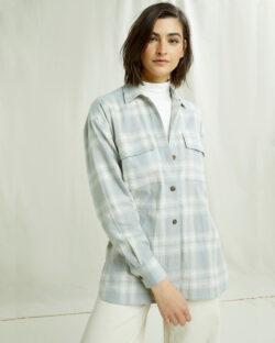 Grå og hvit rutete skjorte - 100 % økologisk bomull » Etiske & økologiske klær » Grønt Skift
