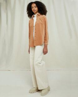 Brun skjorte i fløyel - 100 % økologisk bomull » Etiske & økologiske klær » Grønt Skift
