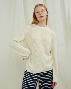 Kremhvit strikket genser - 100 % økologisk bomull » Etiske & økologiske klær » Grønt Skift