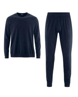 Mørkeblå pysj - 100% økologisk bomull » Etiske & økologiske klær » Grønt Skift